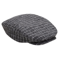 Checkered flannel newsboy cap