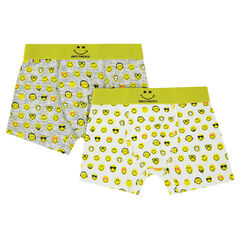 Lot of 2 all-over Smiley© printed cotton boxers