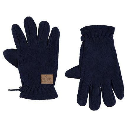Plain-colored microfleece gloves