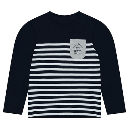 Junior - Long sleeve t-shirt in sailor-style jersey