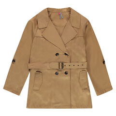 Junior - Peachskin-effect, fluid trench coat
