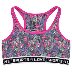 Sports bra with printed butterflies