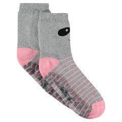 Non-slip socks with panda print