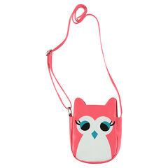 Leather-effect owl-shaped shoulder bag