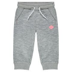 Heathered fleece 3/4 jogging pants