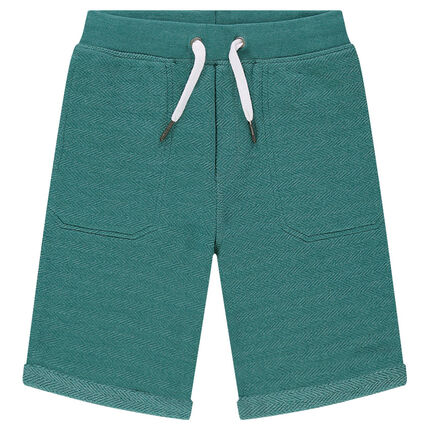 Junior - Fancy knit Bermuda shorts