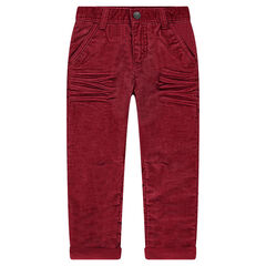 Regular fit corduroy pants