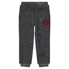 Sherpa-lined fleece sweatpants