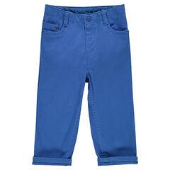 Plain-colored twill pants