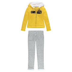Junior Two-Tone Fleece Jogger Set