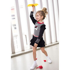 Long-sleeved knit dress with ©Disney Minnie Mouse badge