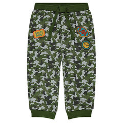 Fleece sweatpants with ©Smiley army motif