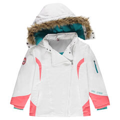 Junior - Micropolar Lined Ski Jacket with Detachable Hood
