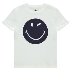 Junior - Short sleeve t-shirt in jersey with © Smiley print
