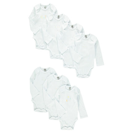 Set of 7 original bodysuits available in different sizes according to age