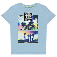 Junior - Short-sleeved tee-shirt with printed landscapes