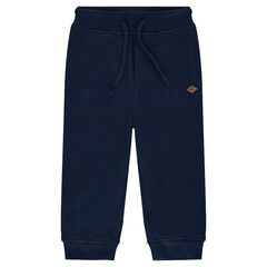 Plain-colored fleece sweatpants
