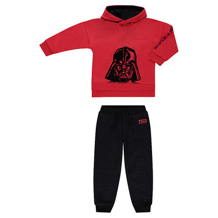 Two-tone fleece sweatsuit with Star Wars™ Dark Vador print