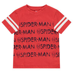 Short-sleeved jersey tee-shirt with ©Marvel Spiderman prints
