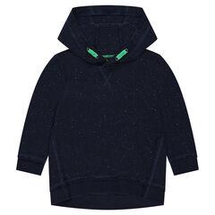 Neps effect fleece hoodie