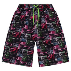 Junior - Short de bain avec imprimé paysages all-over