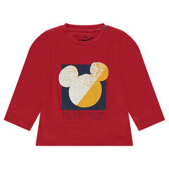 Cotton tee-shirt with Disney Mickey Mouse screen print
