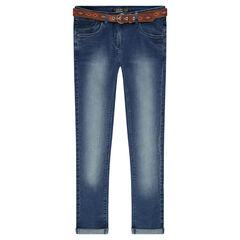 Junior - Slim fit jeans with a removable belt