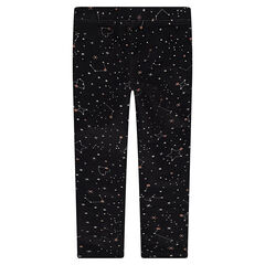 Jersey leggings with allover stars print