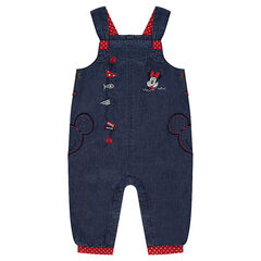 Chambray Overalls with Disney Minnie Embroidery