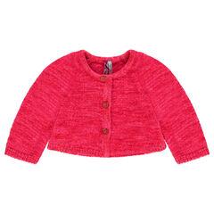 Fluffy knit cardigan