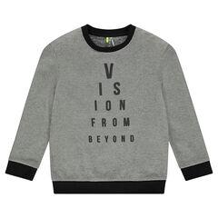 Junior - Fleece sweatshirt with printed message