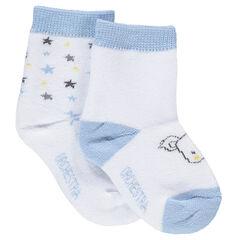 Lot de 2 paires de chaussettes avec étoiles colorées et koala en jacquard