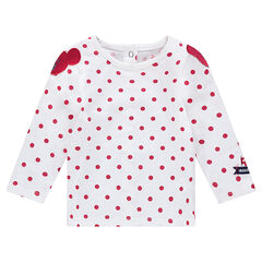 All-over polka dot long sleeve t-shirt with Disney Minnie patches