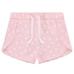Jersey shorts with seamed details and an allover print