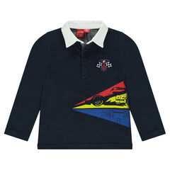 Long-sleeved jersey polo shirt with Disney/Pixar® Cars print