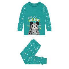 Jersey pajamas with ©Disney stars and Mickey Mouse print