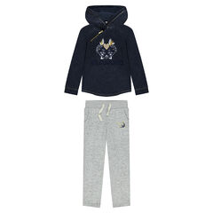 Sparkly fleece sweatsuit ensemble