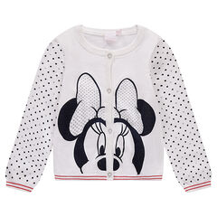 Knit cardigan with Disney Minnie Mouse print