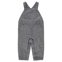 Fancy cotton overalls with jersey lining and pocket