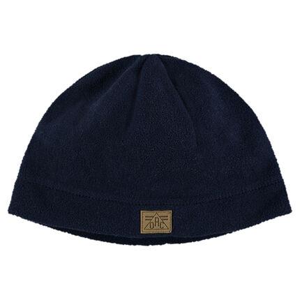Plain-colored micro-fleece cap