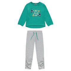 Junior - Fancy Print Fleece Jogger Set