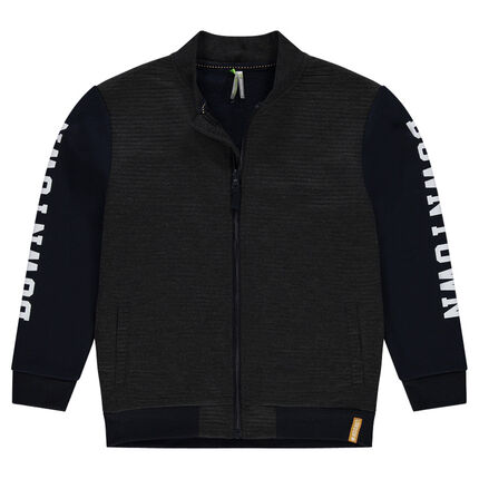 Junior - Ottoman fleece jacket with printed messages