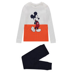 Jersey pajamas with Disney Mickey Mouse print