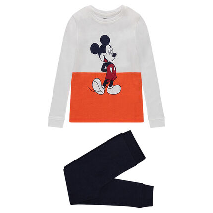 Jersey pajamas with Disney Mickey Mouse print
