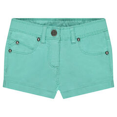 Trendy, plain-colored, canvas shorts