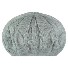 Knit beret with jersey lining