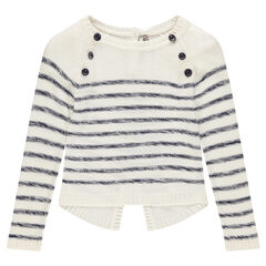 Junior - Sailor-style knit sweater with trendy back