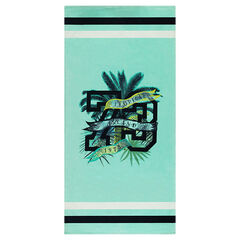 Beach towel with palm tree motifs
