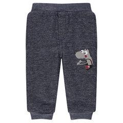 Sherpa-lined fleece pants