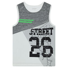 Tank top with sporty spirit print